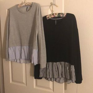 2  NWT. women's size Large tops Both tops included